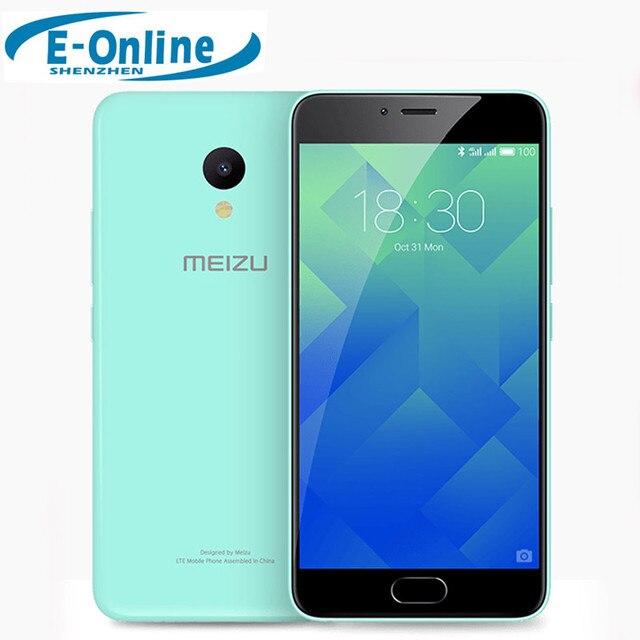 "Оригинал Meizu M5 4 г LTE сотовый телефон 2.5D стекло MT6750 Octa core 5.2 ""2 ГБ оперативной памяти 16 ГБ ROM 13MP 4 г LTE отпечатков пальцев"