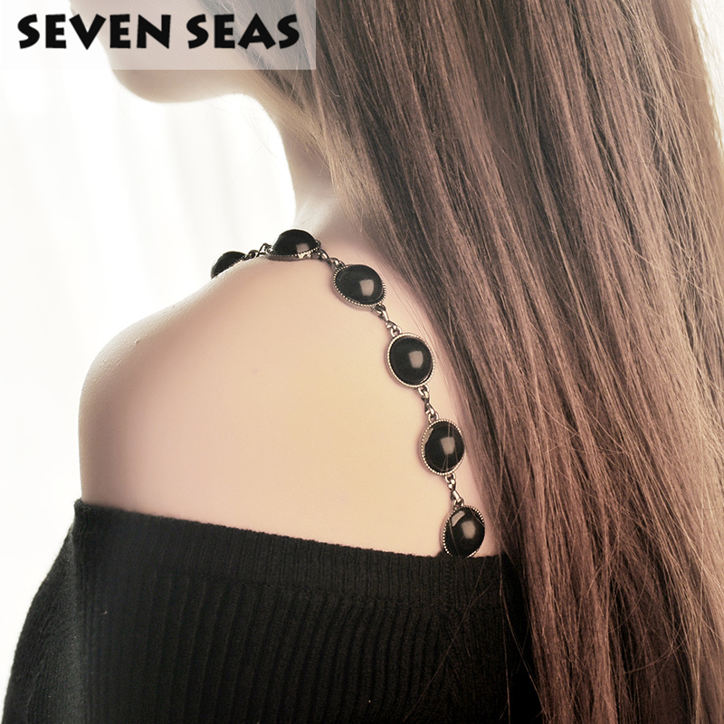 Women Intimate Wedding Bra Accessories Decorative Shoulder Big Beaded Bra Straps Replacement Underwear Belt