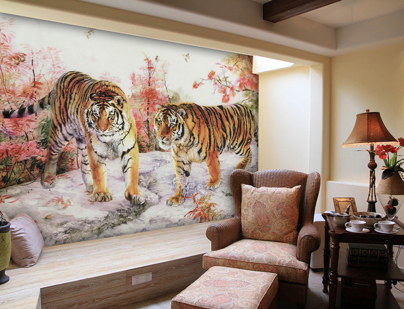 3D Photo Wallpaper Tiger Bedroom Living Room Sofa TV Background Wall Mural PaperChina