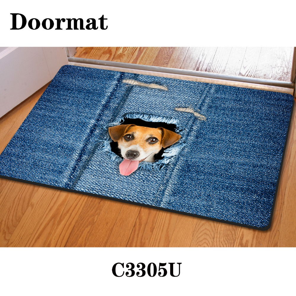 in pet pattern claw kitchen floor cat door mat waterproof dog price rectangle paw floors pvc singapore bowl food