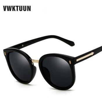 7c9a7b26ec VWKTUUN polarizadas para mujer marca diseñador gafas ronda de gafas de sol  para las mujeres flecha marco espejo sombras gafas grandes gafas de sol