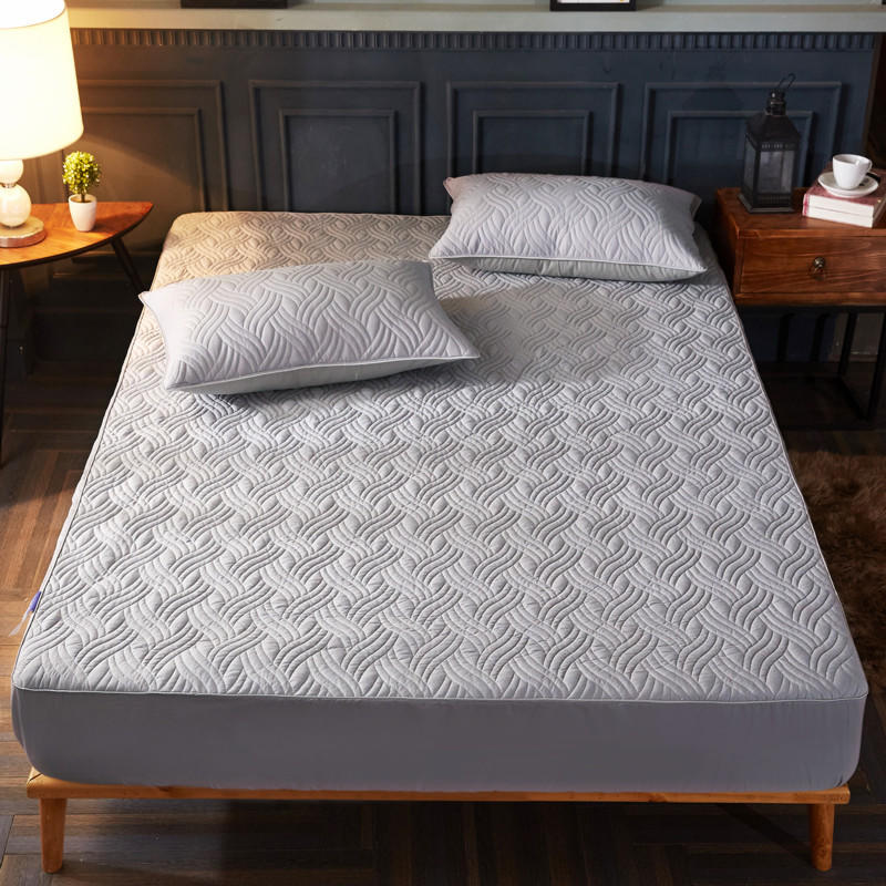 Quality Cotton Thick non-slip warm cotton Fitted sheet mattress protector twin full queen size quilted bed sheet mattress coverQuality Cotton Thick non-slip warm cotton Fitted sheet mattress protector twin full queen size quilted bed sheet mattress cover
