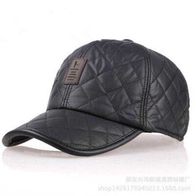 Gorros де beisbol 2016 Зима селезень крышки snapback бейсболка отдых спорт кожа стандарт толщиной ухо шапки ово шляпа