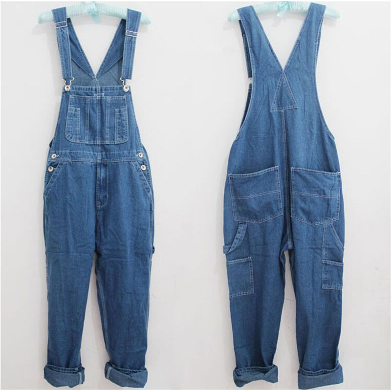 2017 New Fashion Men vintage Trousers Casual Jeans pants loose plus size 28-42 overalls Overalls denim jumpsuit new fashion reminisced men vintage trousers casual jeans festa junina loose plus size overalls zipper denim jumpsuit men pants