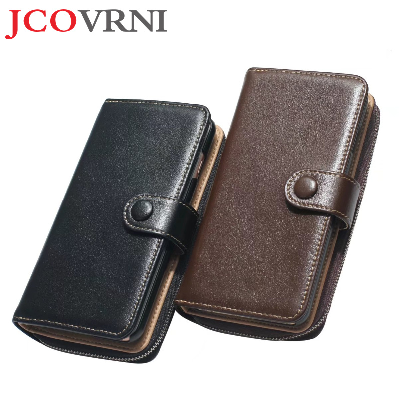 JCOVRNI Luxury multifunction leather wallet for iphone7 7plus 6 6plus full fit 4.7 inch in 5.5 inch wallet phone back cover case