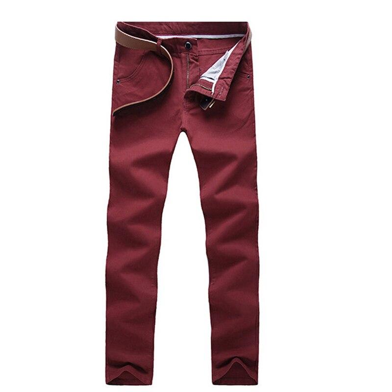 HTB1ekoJXNrvK1RjSszeq6yObFXav Fashion Men Business Casual Pants Cotton Slim Straight Trousers Spring Summer Long Pants -MX8