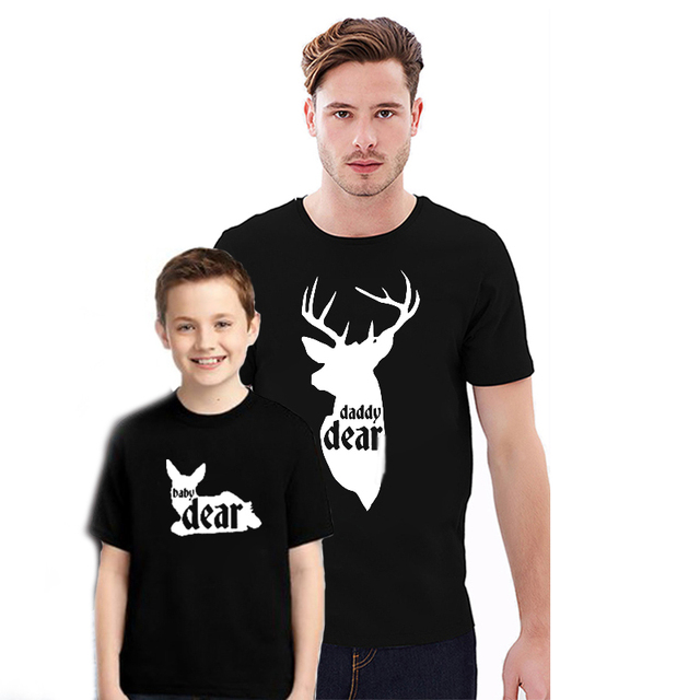 8ecc37dd EnjoytheSpirit Couple Tshirt Dear Printing Matching Family T-Shirt Father  Son Daughter Tee Shirt for