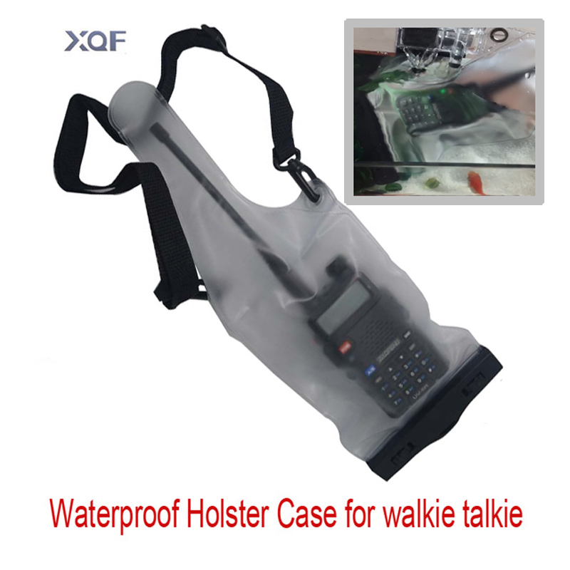 high quality Waterproof Holster Case Bag case for baofeng uv5r UV-82 BF-666S 777S 888S walkie talkie two way Universal Radio