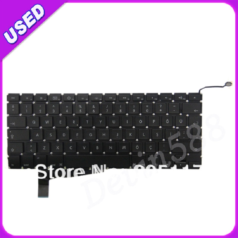 FOR Macbook Pro A1286 Turkish keyboard  for year of 2008 ,ONE YEAR WARRANTY ! new topcase with tr turkish turkey keyboard for macbook air 11 6 a1465 2013 2015 years