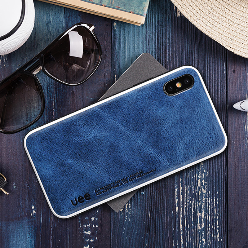 Genuine Leather for iphone 7 case fashion Business phone case for iPhone 8plus X XS Solid color Shock resistance protective case-in Phone Bumpers from Cellphones & Telecommunications