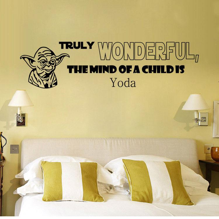 STAR WARS Removable diy vinyl art wall sticker For Kids Bedroom ...