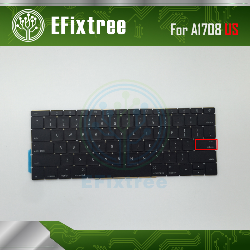 New A1708 Keyboard Key Layout US USA For Macbook Pro Retina 13 A1708 Keyboard 2016 2017 Replacement EMC 3164 EMC 2974 nokia 215 dual sim green