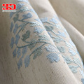 Вышитые шторы из хлопка и льна для гостиной  цветочные шторы для спальни  синие палатки  оконные шторы  китайские шторы