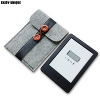 100 Wool Felt Case Cover For Pocketbook 631 Touch HD EReader 6inch Universal Sleeve Pouch Bag