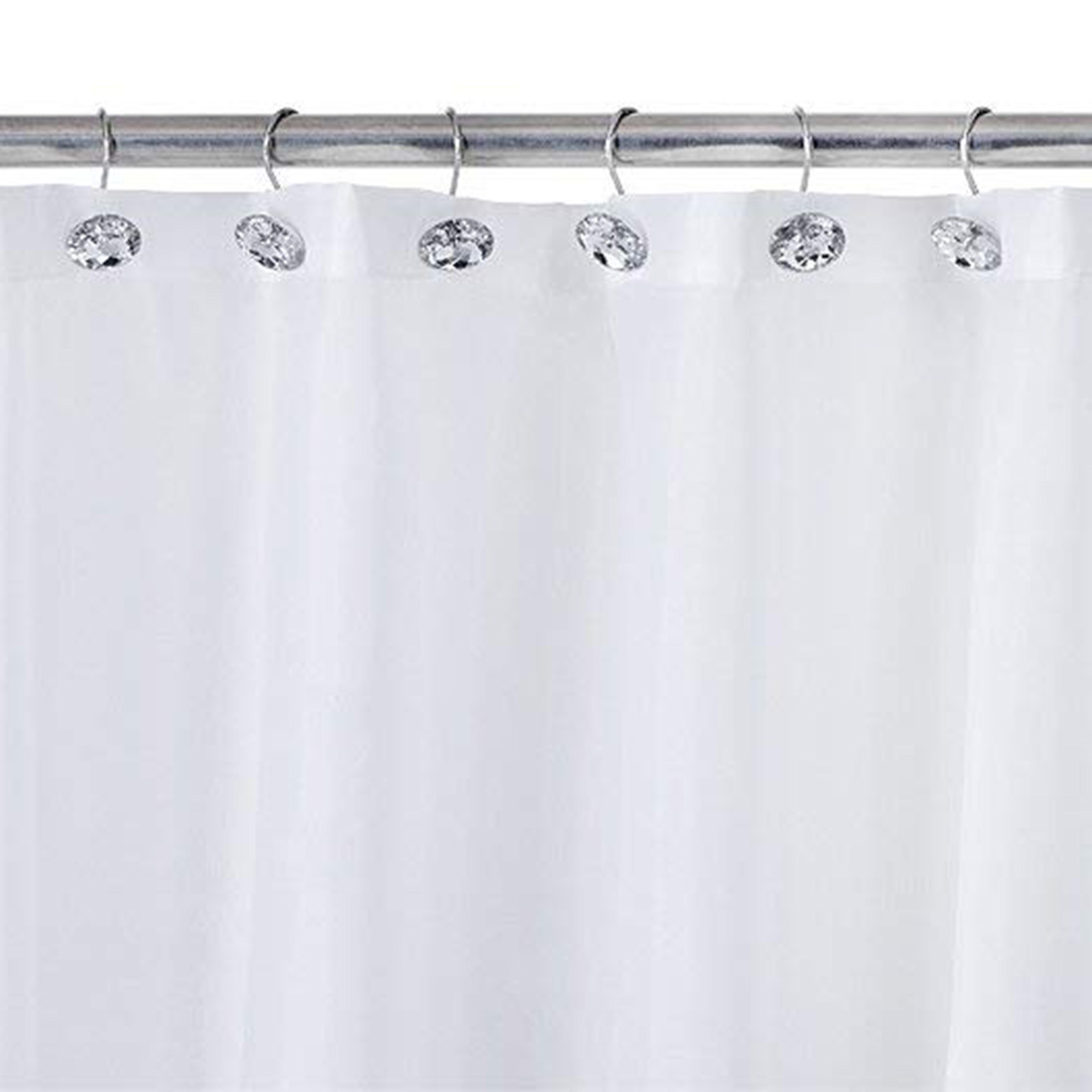 Shower curtain Bling hooks Rings Acrylic Decorative Rhinestones Glass Crystal Rolling Bathroom Bath Set of 12 Rings|Bathroom Hooks| |  - title=