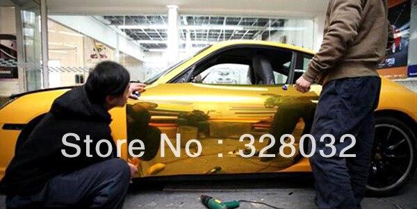 Plating Gold color Chrome vinyl film car body color changing