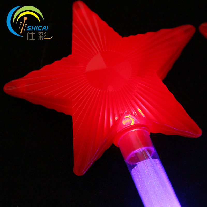 100pcs / Colorful five - pointed star light sticks concert supplies wedding party party flash props electronic night stick