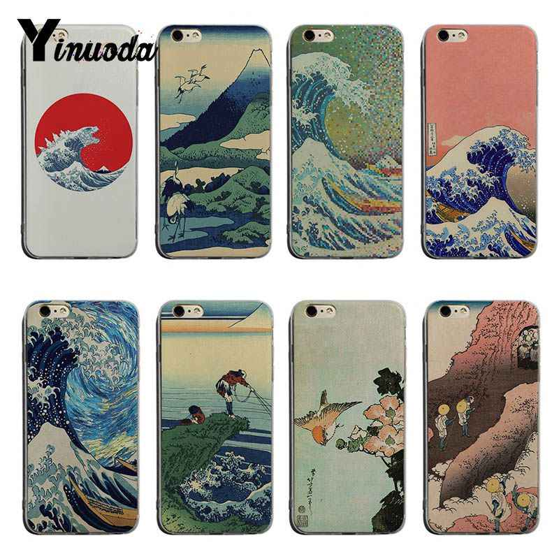 Yinuoda Hokusai The Great Wave Off Kanagawa For Iphone 6 Transparent Rubber Cover Case For Iphone 8 8plus 7 7plus X Xs Xr Cover