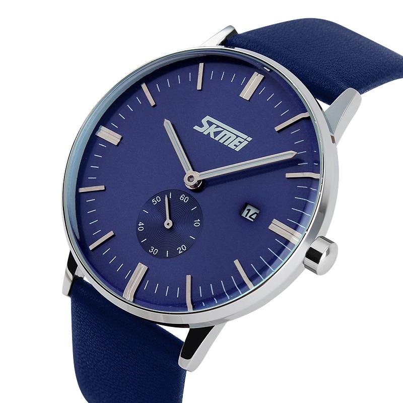 Fashion Belt Watch Waterproof Business Men Watch Quartz Watch 2018 New Moment Sport Wrist Clock Top Brand Luxury A23 new fashionable men business silver belt gear quartz watch