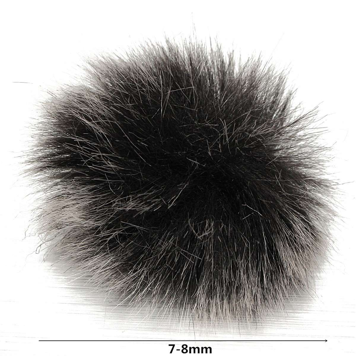 LEORY Furry Lapel Microphone Windscreen Soft Comfortable Artificial Fur Muff Windshield For Mic For Lapel Lavalier Microphones