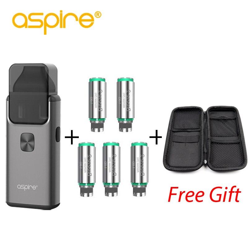Aspire Brise 2 AIO Kit avec 5 pièces Brise bobine Intégré 1000 batterie mah avec 3 ml Réservoir Atomiseur cigarette électronique Kit