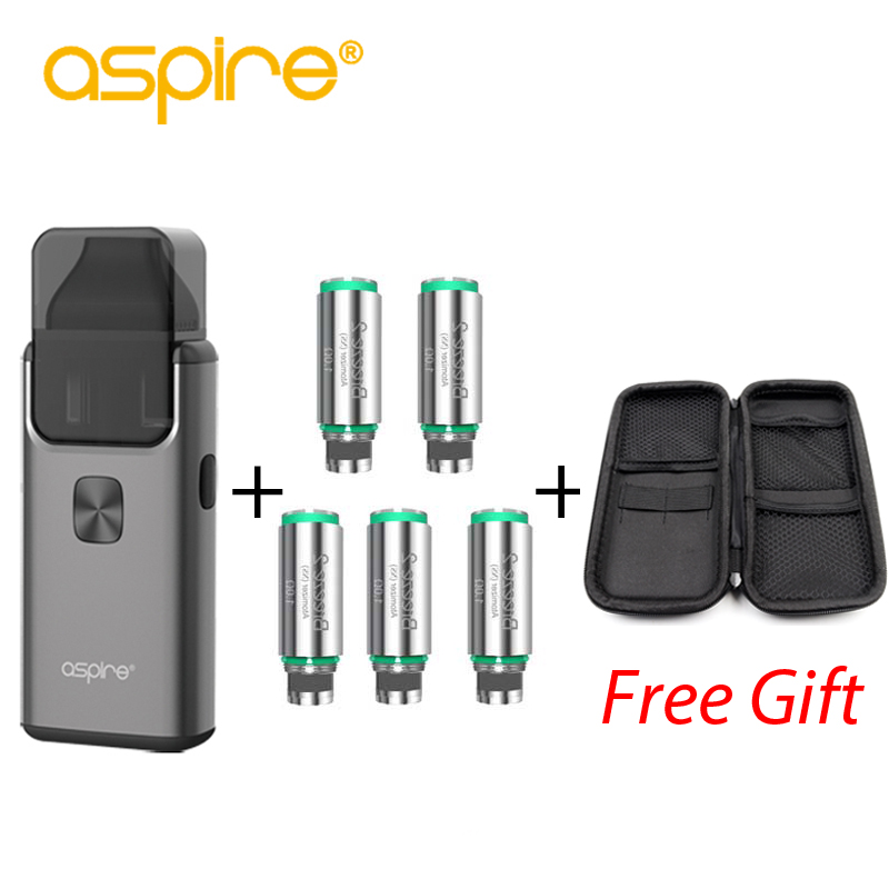 Aspire Breeze 2 AIO Kit with 5pcs Breeze coil Built-in 1000mAh Battery with 2ml/3ml Tank Atomizer Electronic Cigarette Vape Kit helios breeze 2