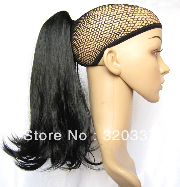 Womens Fashion Ponytail Hair Extensions Short Loose Wavy Ponytail