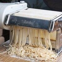 자동 전기 국수 & 파스타 메이커 국수 누르면 스테인레스 스틸 더블 나이프 만두 커버 수동 기계 만들기