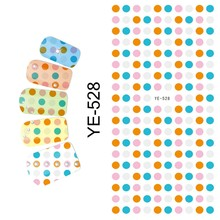 WATER DECAL NAIL STICKER BLACK WHITE COLORFUL ROUND SPOT GOD MOTHER FLOWER LITTLE MONKEY YE528-533(China)