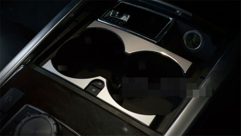 Center Water Cup Holder Cover Trim Frame For Mercedes Benz