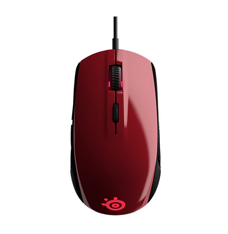 100% Original SteelSeries Rival 100 RGB Optical Gaming Mouse ( Up to 4000 DPI) --FORGE RED 100