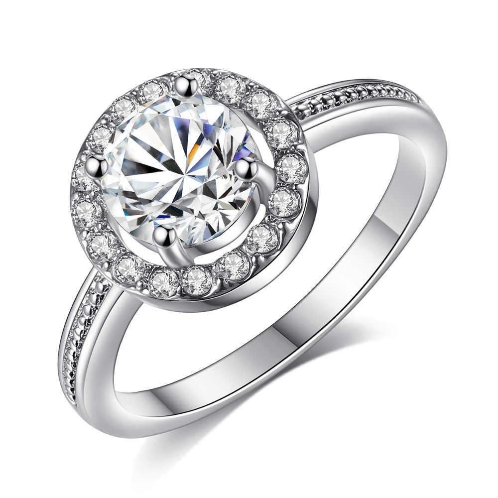 ใหม่แฟชั่นเงินและ Shiny Zircon แปดหัวใจลูกศรหญิงแหวนงานแต่งงานแต่งงานรักคนเครื่องประดับแหวน Dropshipping