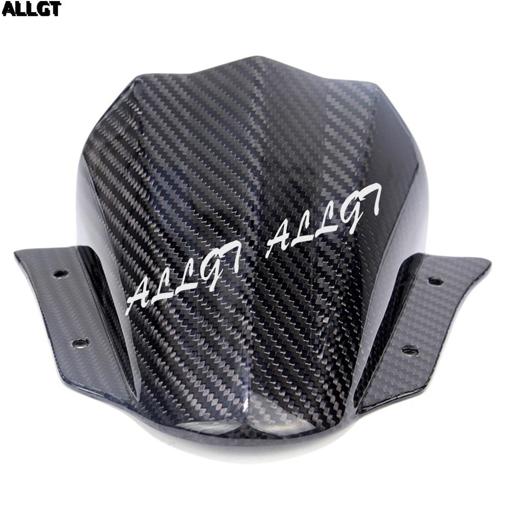 New Carbon Fiber Windshield Windscreen For Yamaha MT09 MT-09 FZ-09 2014 2015 2016 yandex w205 amg style carbon fiber rear spoiler for benz w205 c200 c250 c300 c350 4door 2015 2016 2017