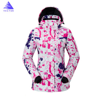 Ski Suit Women Winter Snow Clothing Set Thick Waterproof Jacket and pants -30 Degree Skiing And Snowboarding Suits Brand