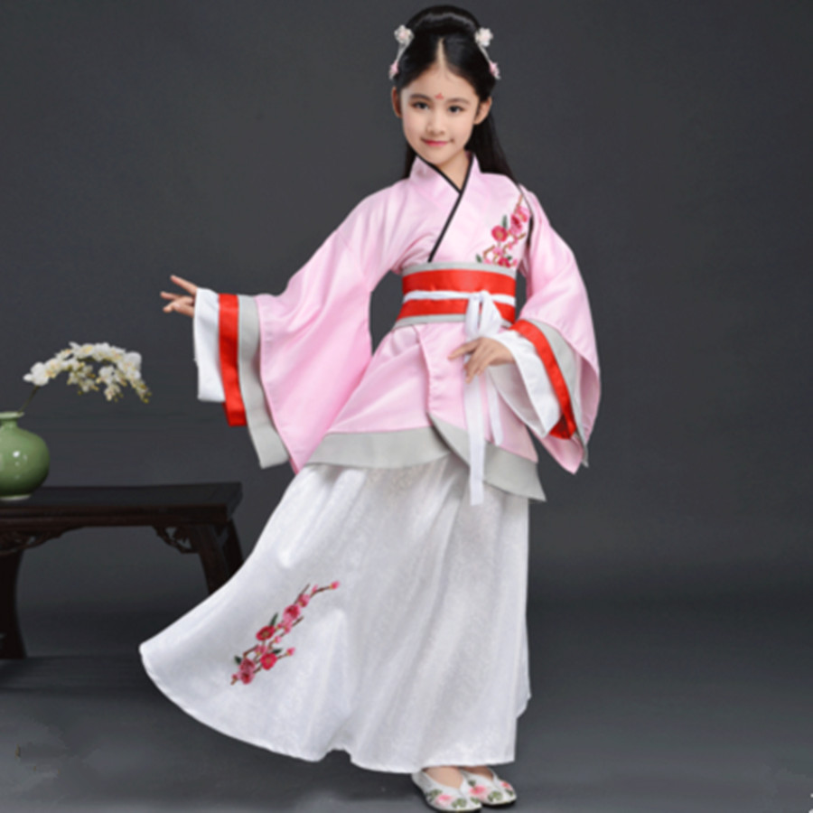 pink princess costumes for girls historical clothing children ancient chinese festival cosplay halloween
