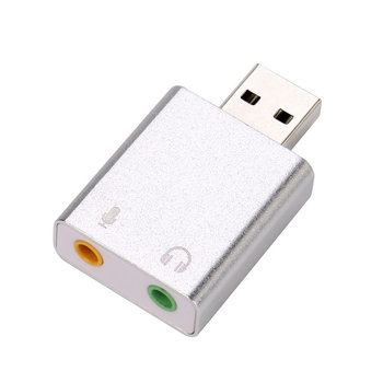 Audio Adapter 3D Sound card 7.1 USB To 3.5mm For mic headphone Jack Stereo Headset A8