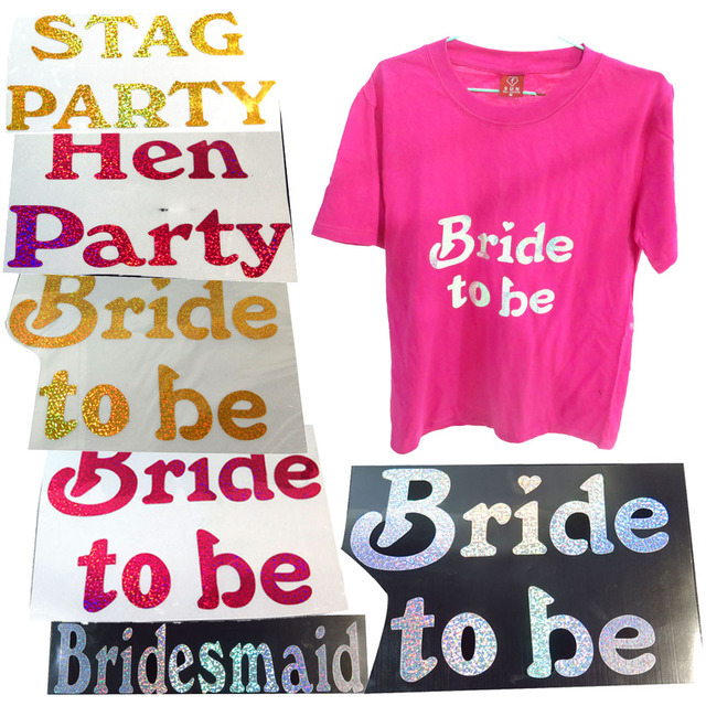 T Shirt Transfer 50 Off For 3pcs Sparking Bride To Be Bridesmaid Hen Stag