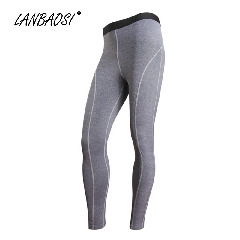 LANBAOSI Mens Compression Pants Baselayer Elastic Sports Running Jogging Cycling Fitness Workout Legging Joggers Sweatpants