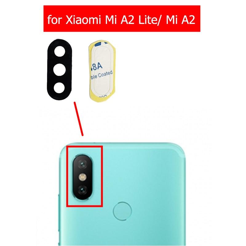 Glass-Lens Camera Glue-Replacement Xiaomi A2-Lite/mi Back Repair-Spare-Parts 2pcs