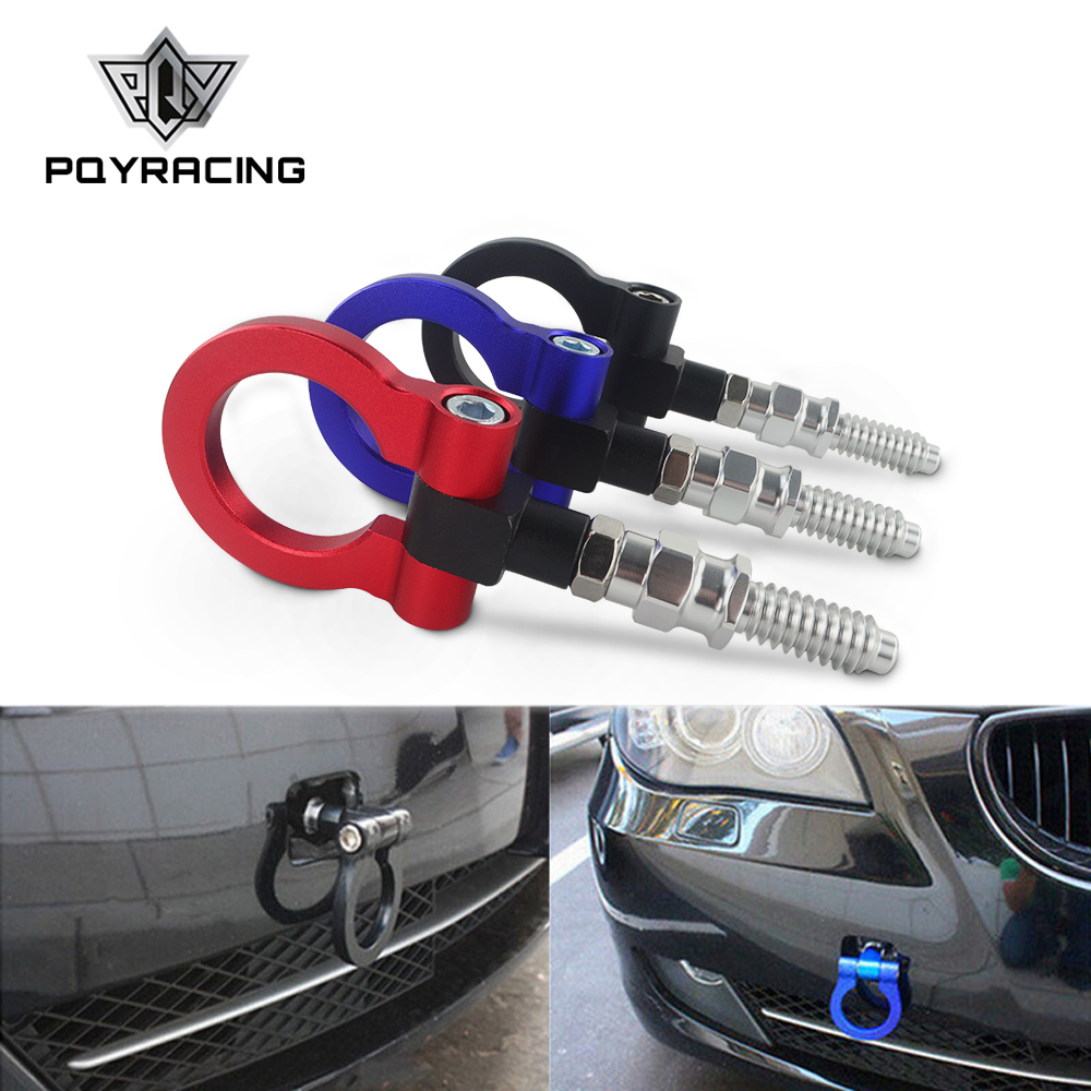 PQY - New Racing Billet Aluminum Tow Hook Front Rear For BMW European Car Trailer PQY-THBE61