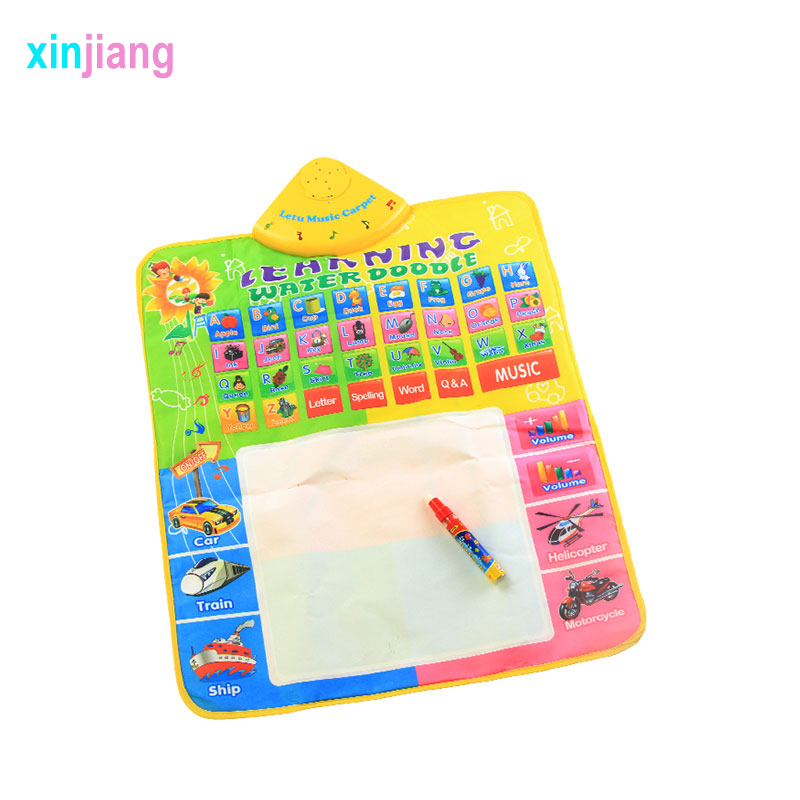 49x60cm Water Musical Doodle Mat Painting Writing Mat & Musical Toys Drawing Board Educational Toys For Kids }