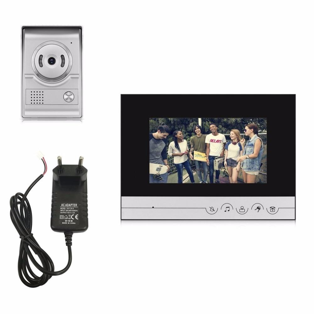 XSL-V70R-L+ 15V Wired Visual Doorbell Video Intercom 7 Inch TFT-LCD Door Phone Infrared Night Vision Doorbell Home Security 4 3 inch tft monitor intercom video door phone xsl 43e m