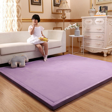Thick 3CM Coral Fleece Velvet mat bedroom carpet thickened Baby climbed playmat Japanese tatami lvingroom rug large size mattess