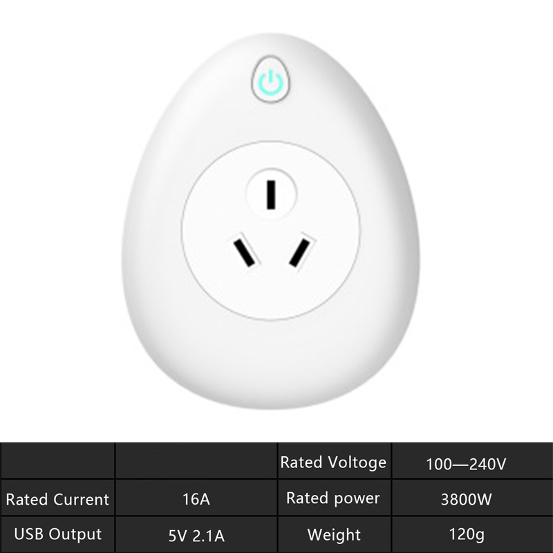 Image 5 - Wifi Smart Socket with free gift charging cable 16A  US EU UK India Israel Plug Voice Remote Control Work with Alexa Tuya App-in Mobile Phone Chargers from Cellphones & Telecommunications