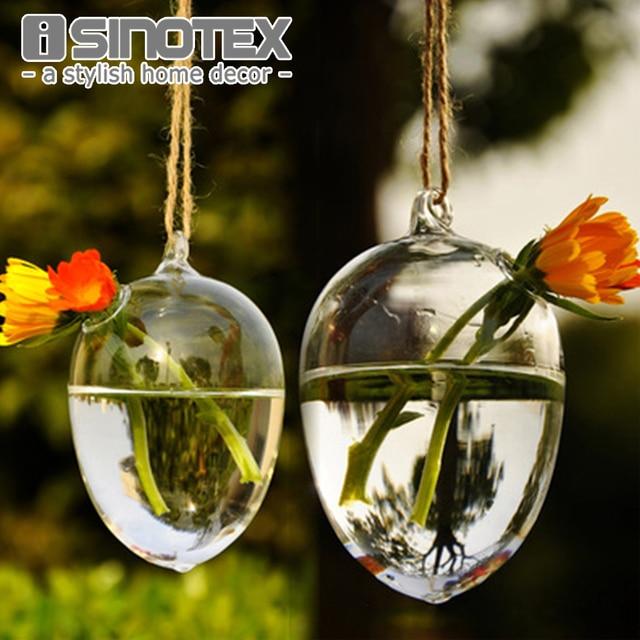 Clear Round Hanging Glass Vase Bottle Terrarium Hydroponic Planter