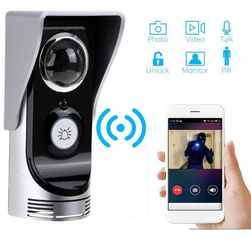 New Door Intercom IP Doorbell With 720P Camera Video Phone Night Vision IR Motion Detection Alarm for IOS Android WIFI Doorbell wireless wifi intercom doorbell camera fingerprint password video phone door bell night vision ir motion alarm for ios android