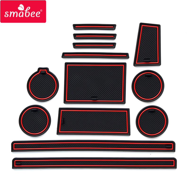 Smabee Gate Slot Pad Mat For SUZUKI ALTO WORKS (HA36S/HA36V) Non-slip Mats Interior Door Pad/Cup Mat Red/white/black