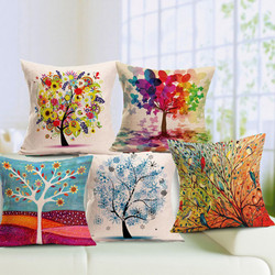 Hot sales flower/colorful trees/flower  printing  sofa cushion pillow  for sofa /home (not including filling)