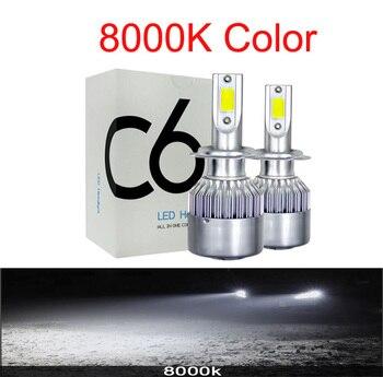 Φώτα led 2pcs h4 h7 h11 72w h8 hb4 h1 h3 hb3