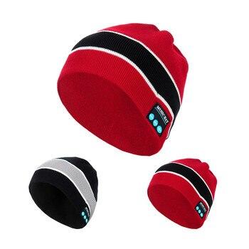 Bluetooth Beanie Hat Winter Audio 2 Colours Brand New Headphone Headset Xmas Bonnet Enfant Winter Hats 2018 Rasta Touca #